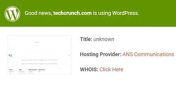 TechCrunch isitwp